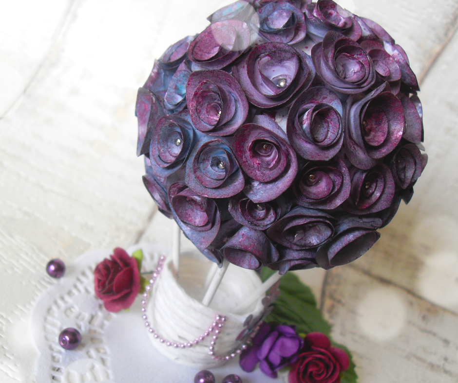 kwiatowy balon z różami dekoracja diy
