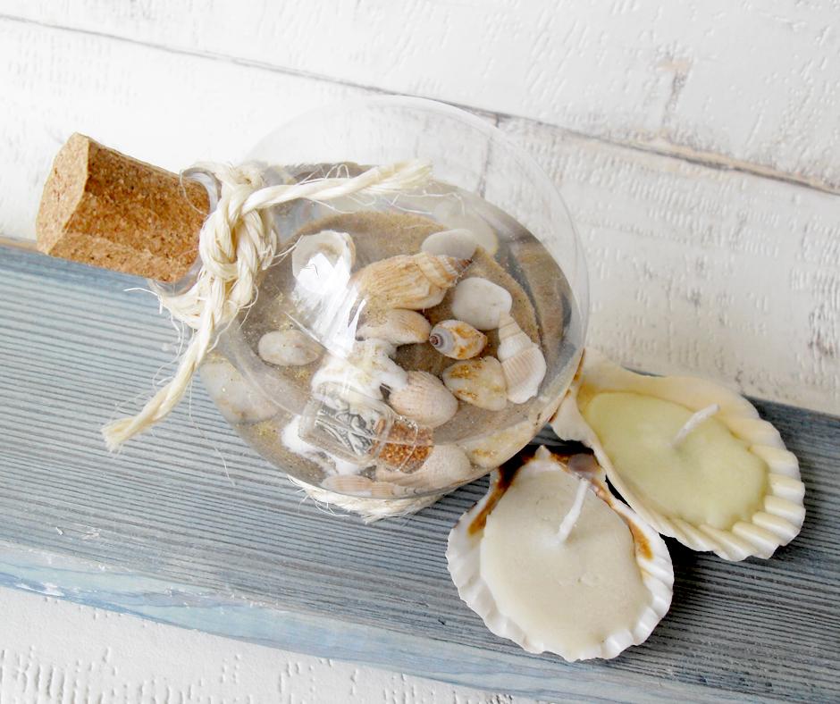 morska kula wspomnień z muszelkami diy