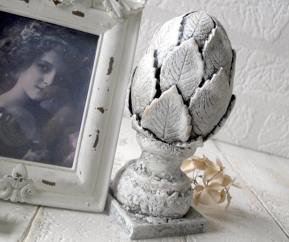 ozdobny kamienny postarzany karczoch diy