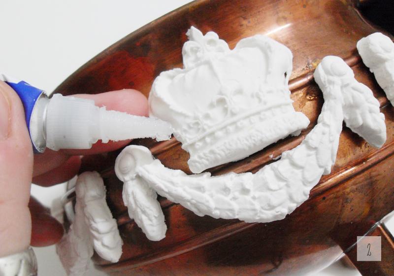 postarzana barokowa donica diy z efektem kamienia