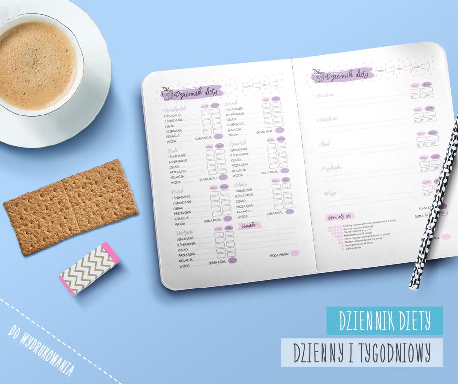 darmowy dziennik diety tygodniowy i dzienny do wydrukowania